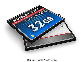 flash, compacto, cartões, memória