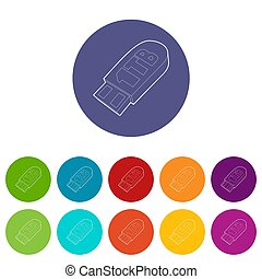 Flash drive icon, outline style - Flash drive icon. Outline...