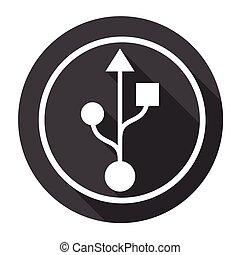 Flash Drive Sign Web Icon