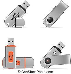 Flash drives icons