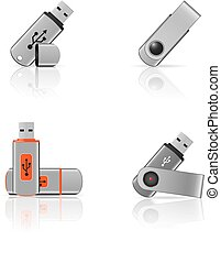 Flash drives icons
