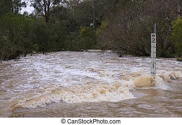 Flash Flooded Road