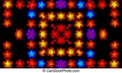 flash flower disco pattern