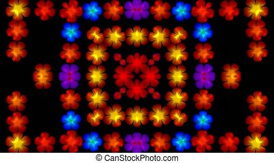 flash flower disco pattern