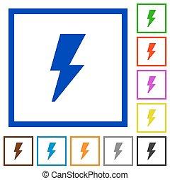 Flash framed flat icons