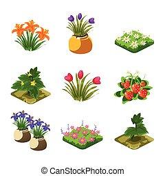 Flash Game Gardening Elements Set