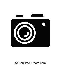 flash glyph flat icon