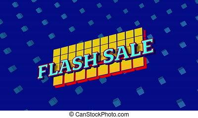 flash, graphique, bleu, vente, fond