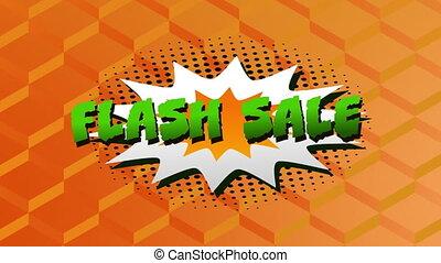 flash, graphique, vente, explosion