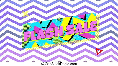flash, graphique, vente, multicoloured, fond, zigzag,...