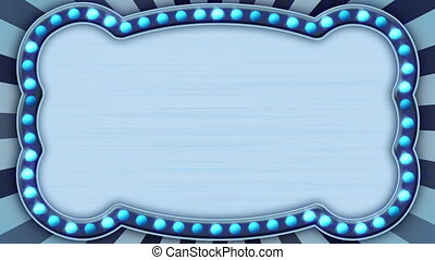 flash light blue marquee. Computer generated seamless loop abstract motion background. HD 1080p