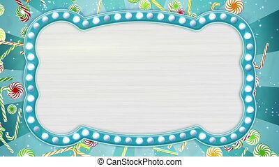 flash light bulbs banner and christmas candy canes loop -...