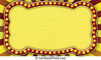 flash light gold marquee loop