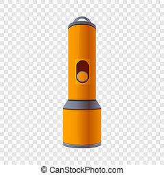 Flash light icon, cartoon style