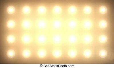 Flash Lights. Stage Lights Animation. 3d render