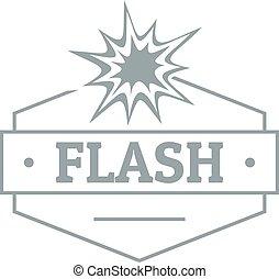 Flash logo, simple gray style