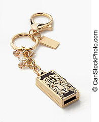flash memory decorated in gold