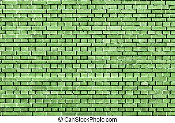 flash, mur, fond, brique, vert