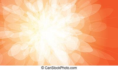 Flash on an orange background - vector illustration