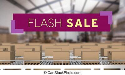 Flash Salegraphicon purple banner