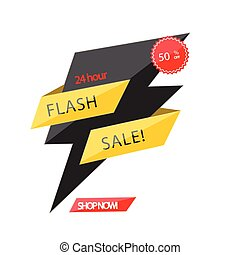 Flash Sale 24 hour 50% Off Origami Vector Image