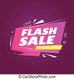 Flash Sale Banner Abstract Background