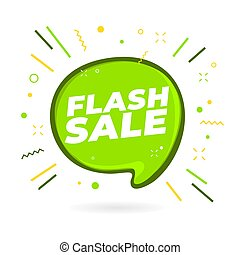 Flash Sale banner design template.