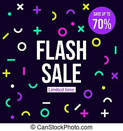 Flash sale banner, poster