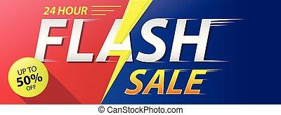 Flash Sale banner vector illustration