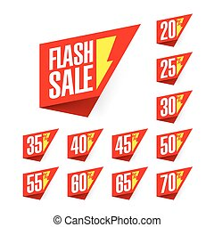 Flash Sale discount labels