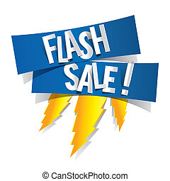 Flash Sale Design With Thunder vector illustration