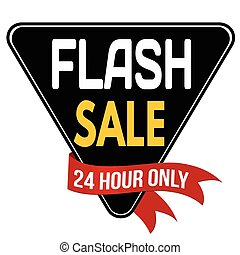 Flash sale label or sticker