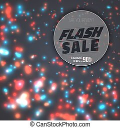 Flash Sale Poster. Vector Flash Sale Banner