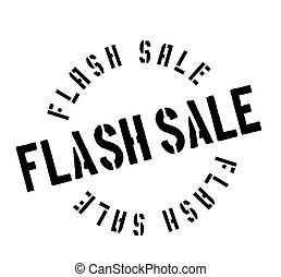 Flash Sale rubber stamp. Grunge design with dust scratches....