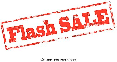 Flash sale - Rubber stamp with text flash sale inside,...