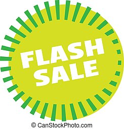 FLASH SALE stamp on white. Stamps and advertisement labels...