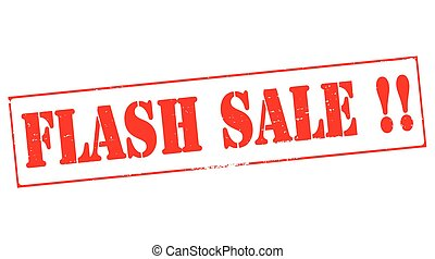 Flash sale - Stamp with text flash sale inside, vector...