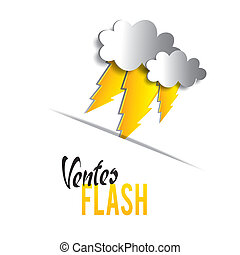 Flash sales vector illustration