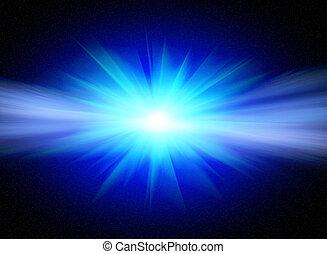 Flash  star - Flash bright blue star for you design