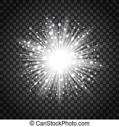 Flash star on transparent background