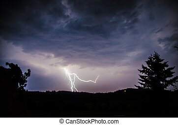 Flash - a Flash in the Night Sky