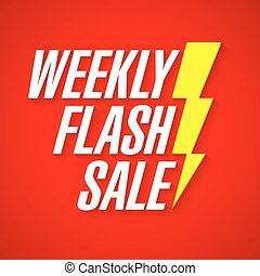 flash, vente, hebdomadaire