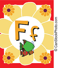 flashcard, アルファベット