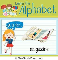 flashcard, 雑誌, m, 手紙