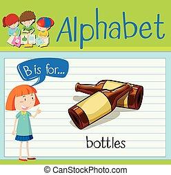 Flashcard alphabet B is for bottles