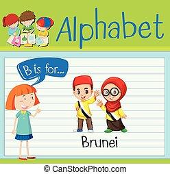 Flashcard alphabet B is for Brunei