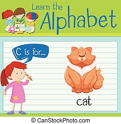 Flashcard alphabet C is for cat