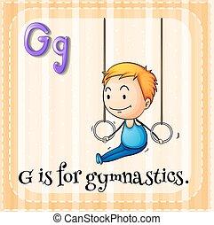 Flashcard alphabet G is for gymnastics