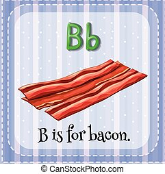 flashcard, b, ベーコン, 手紙