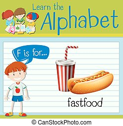 flashcard, fastfood, brief f